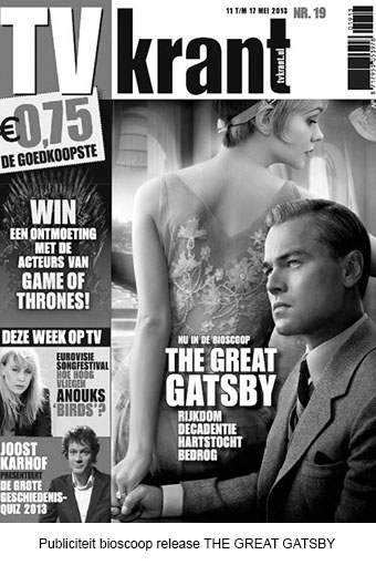 Publiciteit bioscopy release THE GREAT GATSBY